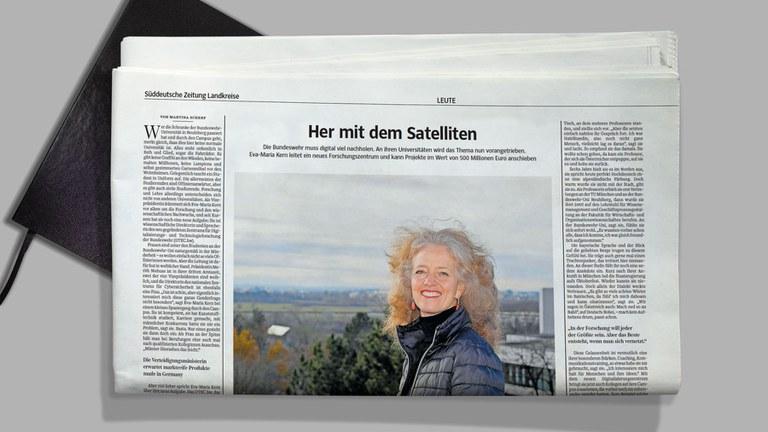 Abbildung der Süddeutschen Zeitung mit einem Artikel von Frau Prof. Eva-Maria Kern